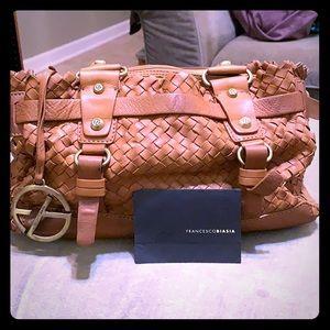 Francesco Biasia woven Italian leather handbag
